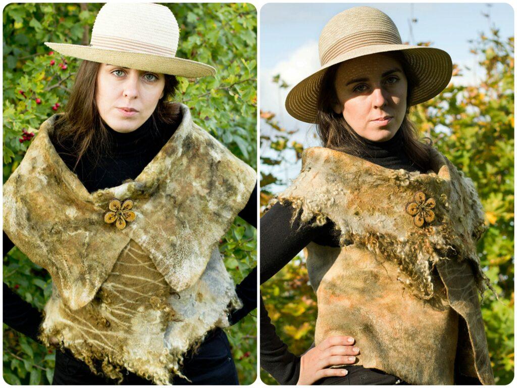 vilditud, vest, wool, meriino, felt, fashion, eco, ecofrendly