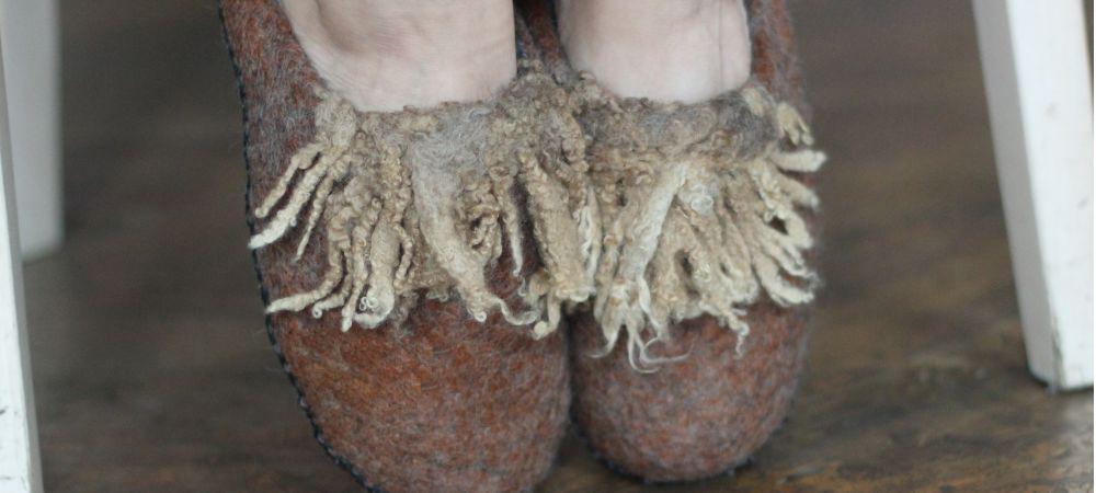viltsuss; felting slippers; vilditud suss